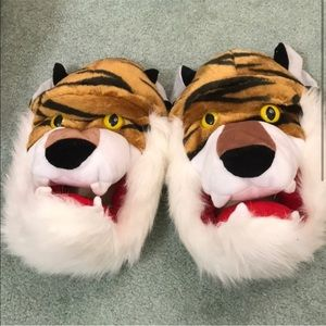 Shoes - Big Plush Tiger Slippers